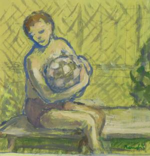 Chlapec s loptou