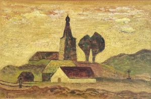 Krajina s kostolom