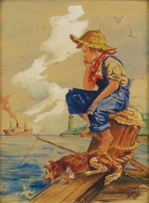 Chlapec pri mori