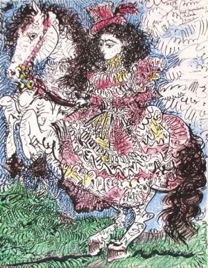 Krasojazdkyňa ( Lady on a horse )